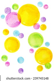 kid colorful background for invitation, decorated and party. watercolor art drawing