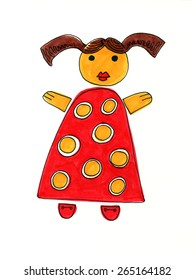 drawing doll images stock photos vectors shutterstock