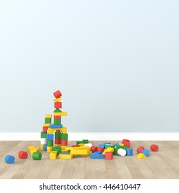 kid room Interior 3d rendering image