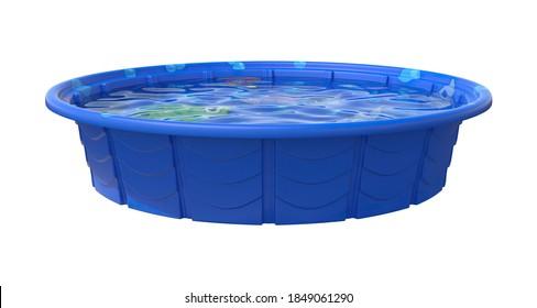 Kiddie Pool 3D illustration on white background