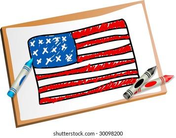 American+flag+kid Stock Illustrations, Images & Vectors | Shutterstock