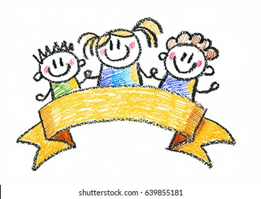 Kids drawing Children education, school, kindergarten Play Study Learn Boys and Girls