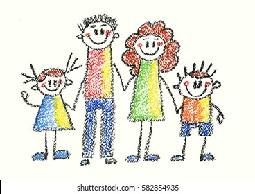 Family Drawing Images Stock Photos Vectors Shutterstock