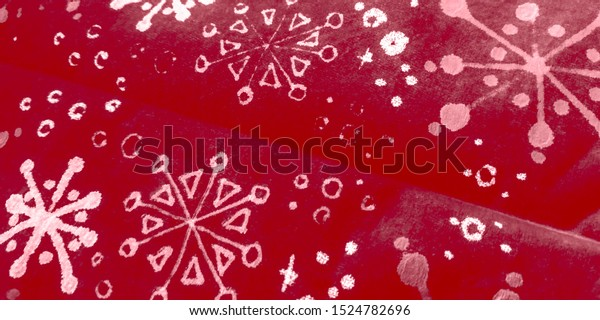 Kids Winter Background. Pink Brush Snowflake. Pink Winter Xmas Background. Red Xmas Scene. Burgundy Snow Transparent Effect.