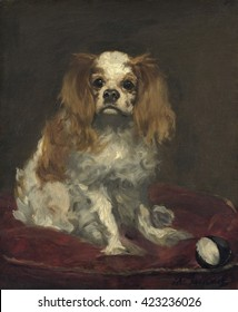 A King Charles Spaniel, by Edouard Manet, 1866, French painting, oil on linen