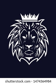 A king lion illustration. Simple and modern.
