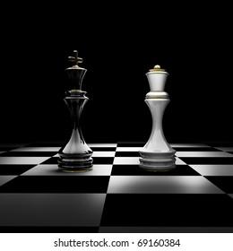 Chess King Queen Images, Stock Photos & Vectors   Shutterstock