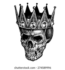 KING SCULL CROWN INK
