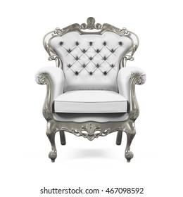 King Throne Chair. 3D rendering