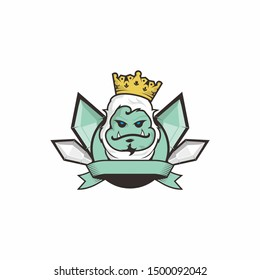 king yeti logo illustration for game logo