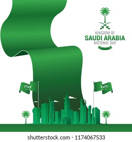 Kingdom of Saudi Arabia National day.  Independence day of Saudi Arabia