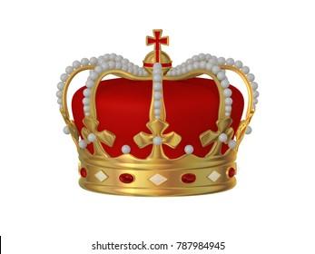 King's crown, 3D illustration