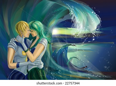 Kiss Haruka and Michiro