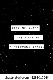 kiss me under the light of a thousand stars lyrics romantic ed sheeran song quote