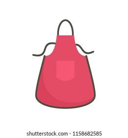 Kitchen apron icon. Flat illustration of kitchen apron icon for web isolated on white