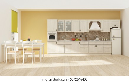 Kitchen interior 3D rendering
