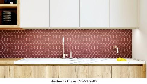 Kitchen Backsplash 3d High Res Stock Images Shutterstock