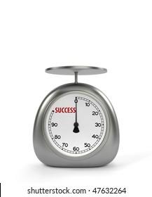 Kitchen scales for success measurement