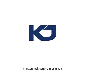 kj original monogram logo design