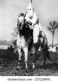 Klansman doing sentry duty near the Klan encampment at Kiles Ohio After the Klan targeted the ethnically diverse (Irish and Italian) town for an intimidating parade.
