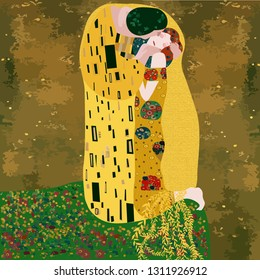 Klimt's love embrace