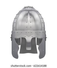 Knight Helmet Isolated. 3D rendering