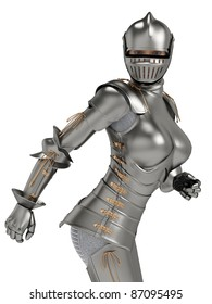 knight metal lady ops
