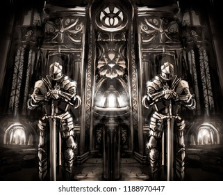 knights guard the Shrine in the Cathedral
