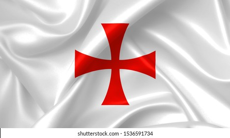 knights templar cross flag country symbol illustration