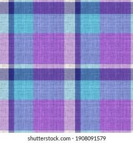 Knit wool plaid background pattern. Traditional warm checkered handmade stitch texture effect. Seamless masculine tweed effect fabric. Melange winter tartan all over print.