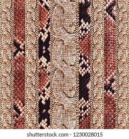 Knitwear Fabric Texture, geometric texture, snake pattern
