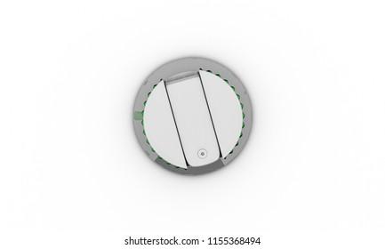Knob metal on white background 3d illustration