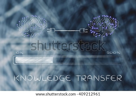 knowledge transfer electronic circuit brains connected stock