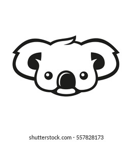 Koala Bear Sign Logo. Coala. Illustration
