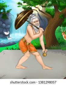 Koon Kannar – Image of the Siddhar Koon Kannar, who is one among the 18 Tamil Siddhars