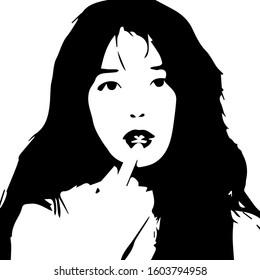 Korean Actress IU Vector Art