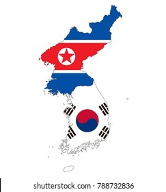 Korean Peninsula and National Flag