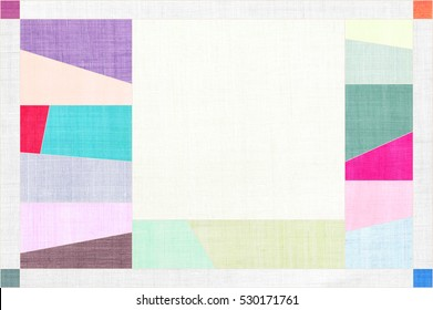 Korean traditional patchwork background of ramie fabric.