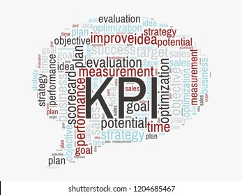 KPI : Key Performance Indicator word lettering typography design illustration.