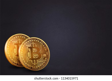 Krypto currency Bitcoin Background as 3D wallpaper, presentation screen, etc.