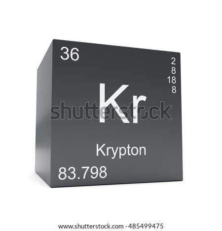 Krypton Chemical Element Symbol Periodic Table Stock Illustration