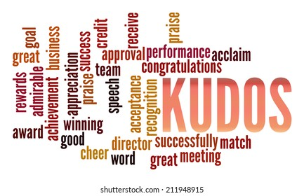 Kudos in word collage