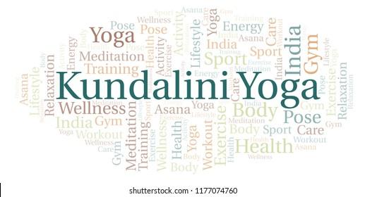 Kundalini Yoga word cloud.