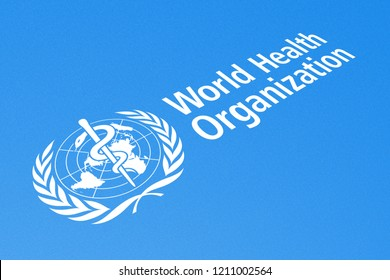KYIV, UKRAINE - OCTOBER 20, 2018 Logo of World Health Organization, Illustrative Editorial