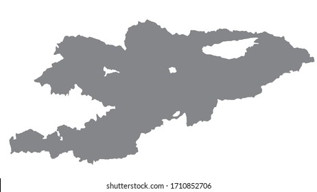 Kyrgyzstan map with gray tone on  white background,illustration,textured , Symbols of  Kyrgyzstan,for advertising ,promote, TV commercial, ads, web design, magazine, news paper, report
