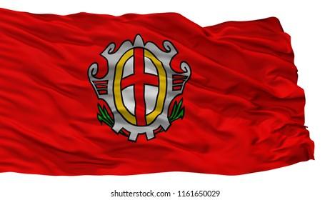 Labina City Flag, Country Croatia, Isolated On White Background