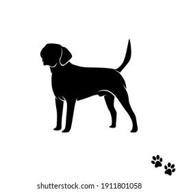 Labrador retriever dog artwork - black and dog