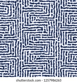 Labyrinth Stroke Bleached Effect Textured Background. Seamless Pattern.