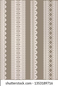 Lace border sets