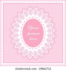 Lace doily frame vintage white eyelet stock illustration 29862715 lace doily frame vintage white eyelet design pattern oval copy space to add picture solutioingenieria Gallery